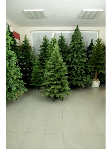 Vánoční stromeček Borovice Tajga s šiškami 3D+2D jehličí 220cm
