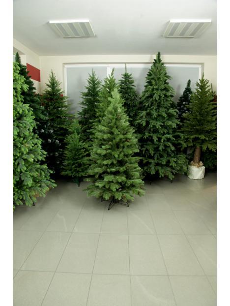Vánoční stromeček Borovice Tajga s šiškami 3D+2D jehličí 150cm