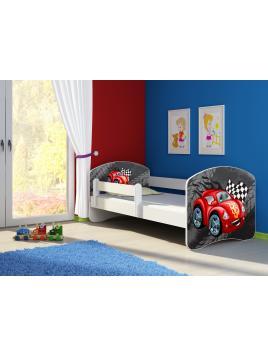 Dětská postel ACMA II Bílá 140x70 + matrace zdarma