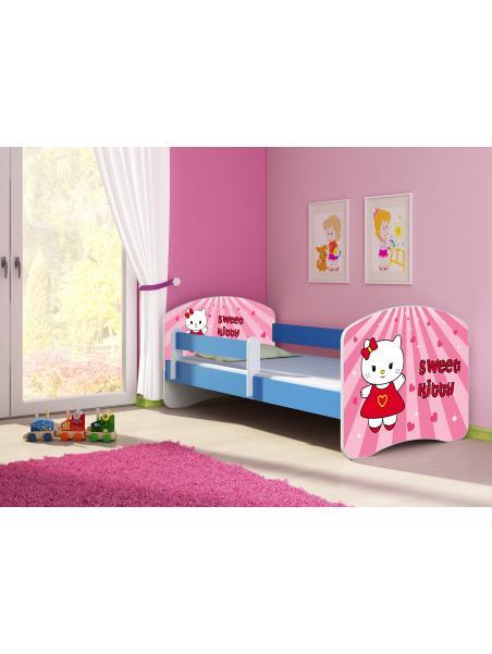 Dětská postel ACMA II Modrá 140x70 + matrace zdarma
