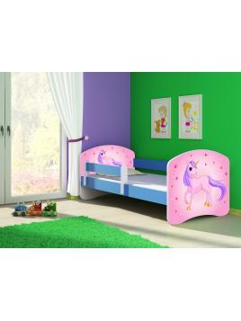 Dětská postel ACMA II Modrá 160x80 + matrace zdarma