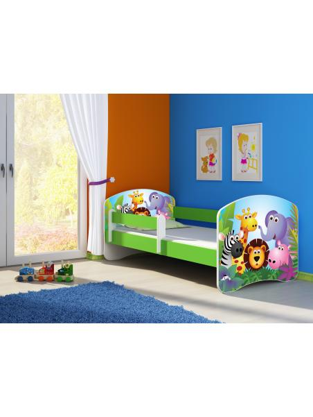 Dětská postel ACMA II Zelená 140x70 + matrace zdarma