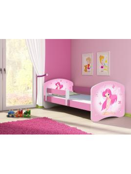 Dětská postel ACMA II Růžová 140x70 + matrace zdarma