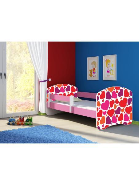 Dětská postel ACMA II Růžová 180x80 + matrace zdarma