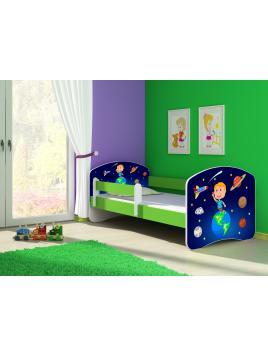 Dětská postel ACMA II Zelená 180x80 + matrace zdarma