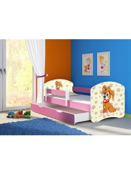 Dětská postel ACMA II BOX Růžová 160x80 + matrace zdarma