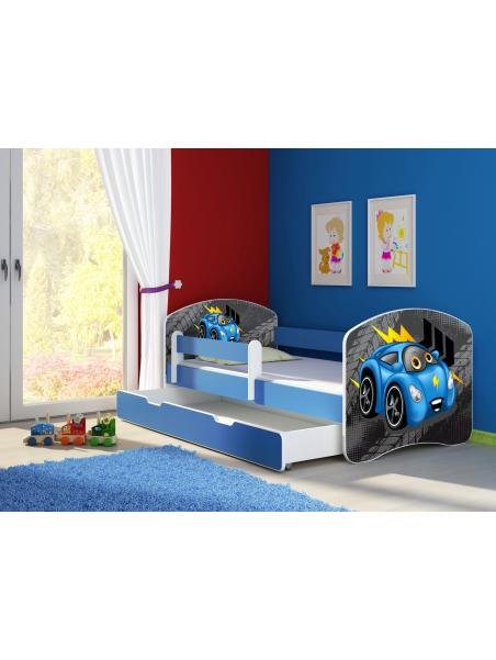 Dětská postel ACMA II BOX Modrá 180x80 + matrace zdarma