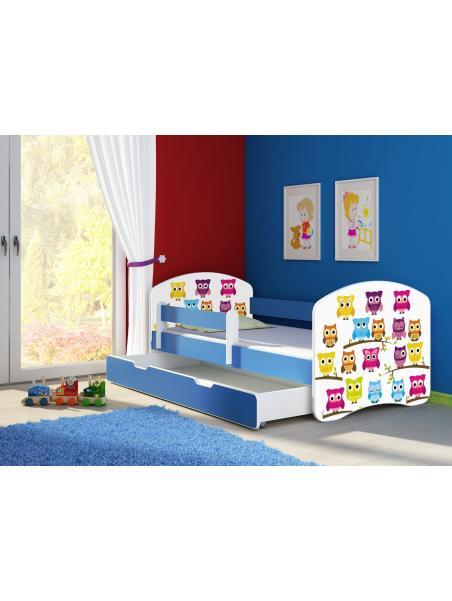 Dětská postel ACMA II BOX Modrá 140x70 + matrace zdarma