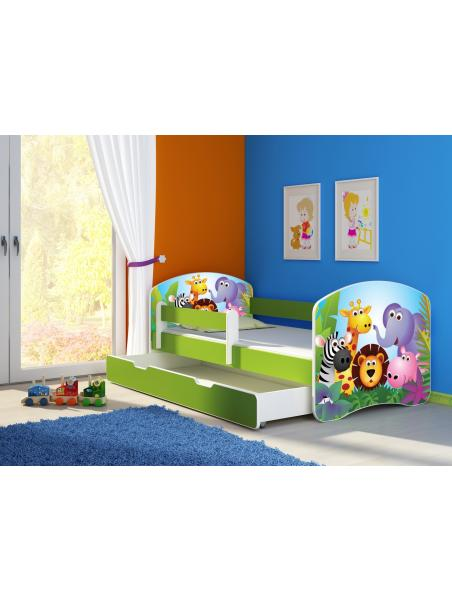 Dětská postel ACMA II BOX Zelená 180x80 + matrace zdarma
