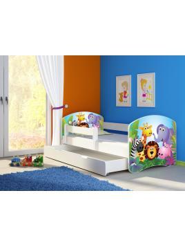 Dětská postel ACMA II BOX Bílá 140x70 + matrace zdarma