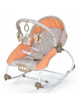 Dětské lehátko Baby Mix béžovo-oranžové 9 - 18 kg