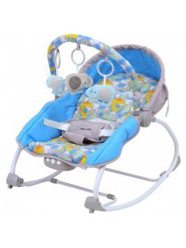 Dětské lehátko Baby Mix Dino modro-šedé