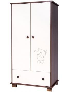 Dětská skříň Drewex Medvídek a motýlek - ořech