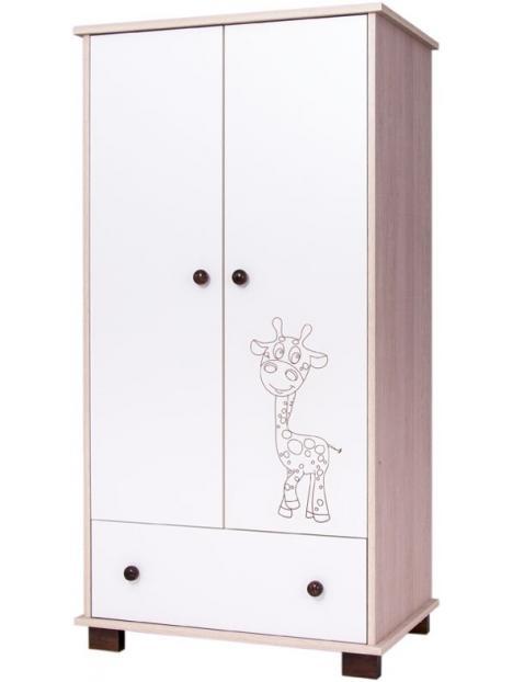 Dětská skříň Drewex Žirafa - dub santana
