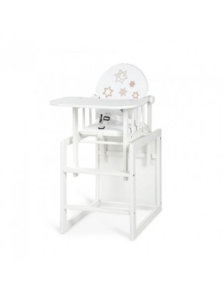 Jídelní židlička Klups Aga III Hvězdičky - bílá