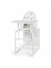 Jídelní židlička Klups Aga III Sovičky - bílá