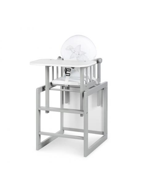 Jídelní židlička Klups Aga III šedá