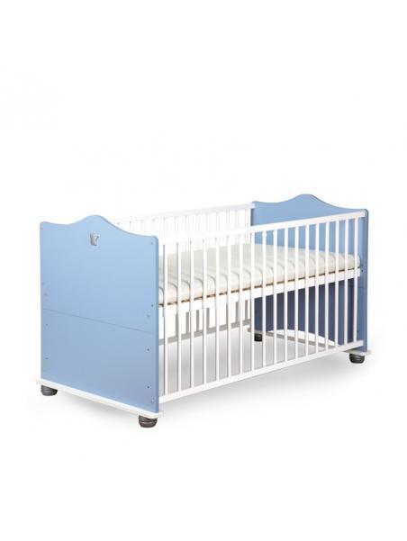 Dětská postýlka Klups Princ - modrá / bílá 140x70 cm