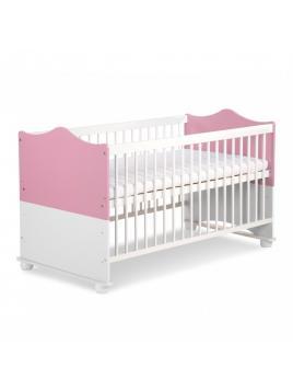 Dětská postýlka Klups Princezna - růžová / bílá  140x70 cm
