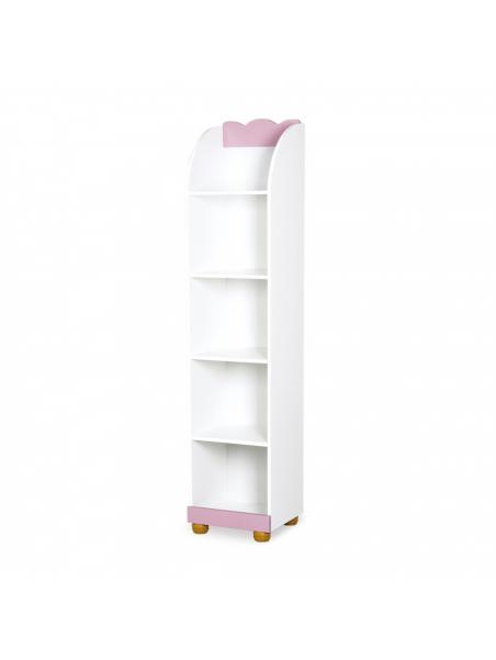Regál Klups Princezna - růžová / bílá
