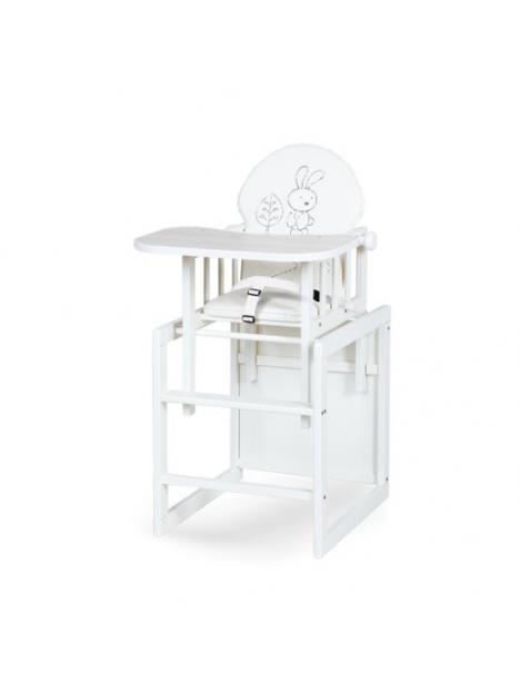Jídelní židlička Klups Aga III ecru Safari Zajíček