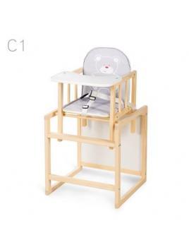 Jídelní židlička Klups Aga borovice C1 - šedá