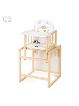 Jídelní židlička Klups Aga borovice C2 - krémová