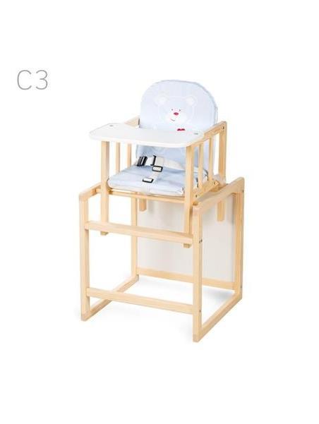 Jídelní židlička Klups Aga borovice C3 - modrá