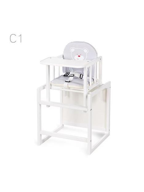 Jídelní židlička Klups Aga bílá C1