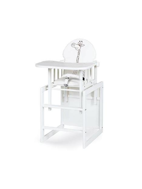 KLUPŚ Krzesełko AGA III SAFARI ŻYRAFKA biała