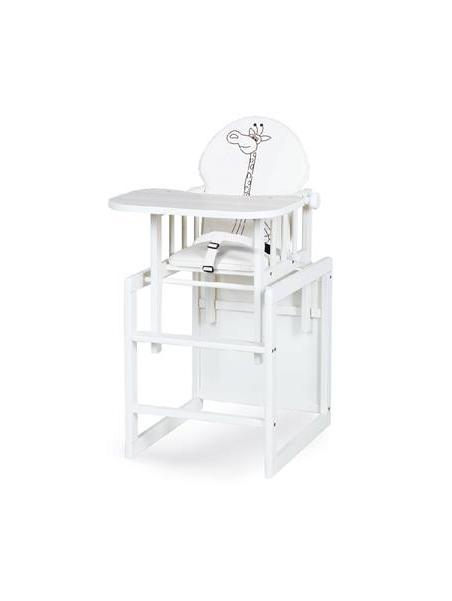 Jídelní židlička Klups Aga III Safari Žirafa - bílá