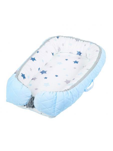 Hnízdečko ALBERO MIO Velvet Kids modré