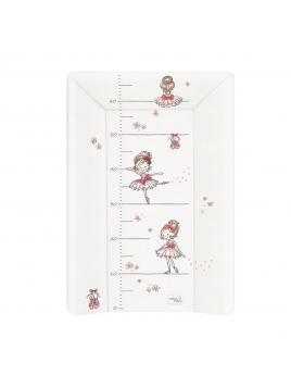 Přebalovací podložka tvrdá 50x70 cm Ceba Baby PRIMABALERÍNA bílá