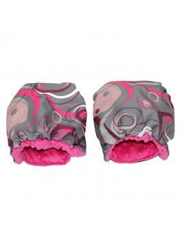 Rukávník Babysportive - Minky růžové kolečka