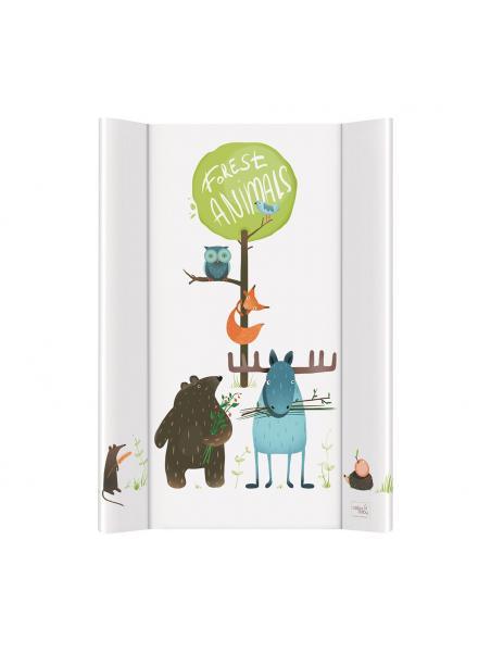 Přebalovací podložka měkká 50x70 cm dvouhranná Ceba Baby - Animals