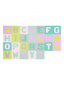 Pěnové puzzle BabyOno Abeceda (26 Ks) Pastelové