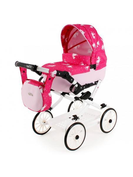Adbor Viki kočárek pro panenky - Růžová s jednorožcem