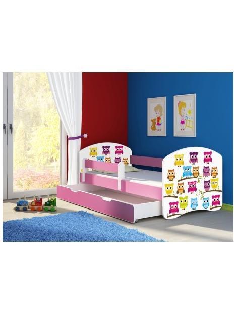 Dětská postel ACMA II BOX Růžová 140x70 + matrace zdarma