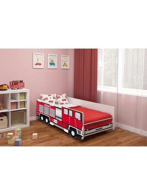 Dětská postel ACMA Hasiči 140x70 cm + matrace ZDARMA