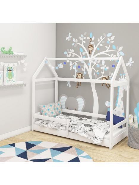 Dětská postel domeček 140x70 cm ACMA bílá