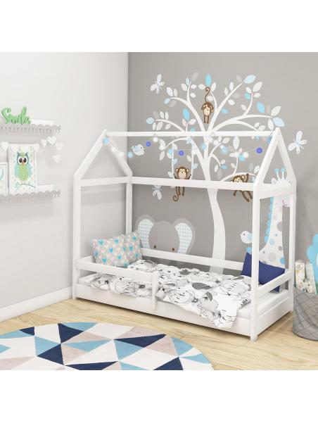 Dětská postel domeček 160x80 cm ACMA bílá
