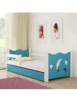 Dětská postel ACMA III modrá 160x80 cm + matrace zdarma