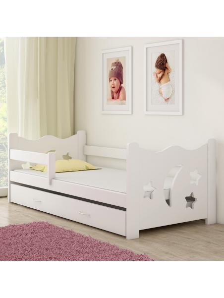 Dětská postel ACMA III bílá/bílá 160x80 cm + matrace zdarma