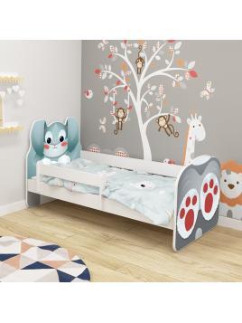 Dětská postel ACMA VII Králík 140x70 cm se šuplíkem + matrace zdarma