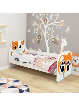 Dětská postel ACMA VII Kočka140x70 cm + matrace zdarma