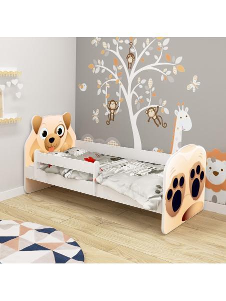 Dětská postel ACMA VII Pes 140x70 cm + matrace zdarma