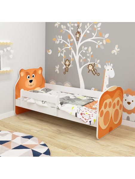 Dětská postel ACMA VII Medvěd 140x70 cm + matrace zdarma