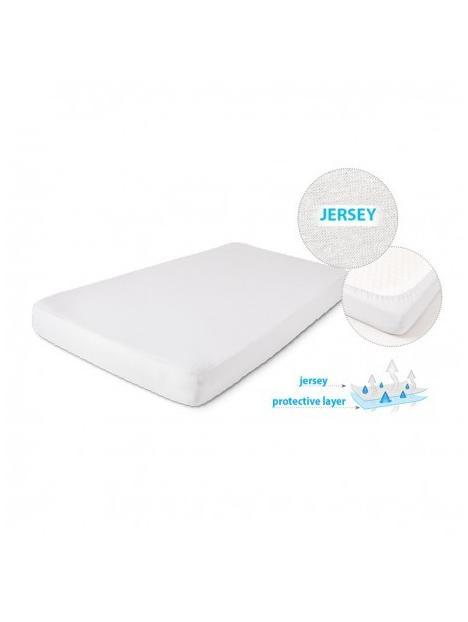 Nepromokavé prostěradlo 140x70 Baby Matex JERSEY- bíláKatalog  Produkty