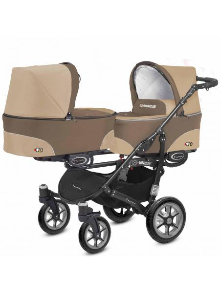 BabyActive Twinni Cappuccino Beige 02 +autosedačka