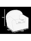 Dětské křesílko Albero Mio Velvet V103 Ecru